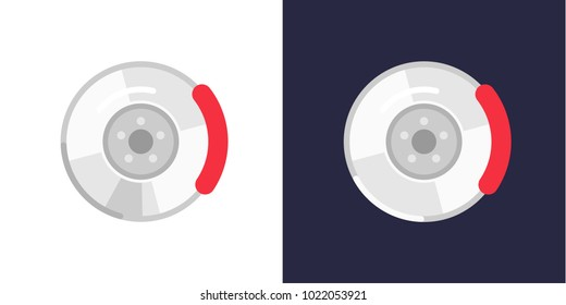 Stilyzed auto disc brakes, auto parts. Vector, isolated