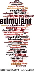Stimulant word cloud concept. Collage made of words about stimulant. Vector illustration
