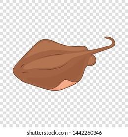 Stingray fish icon. Cartoon illustration of stingray fish vector icon for web