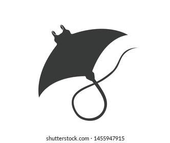 Stingray icon. Stingray fish vector design.