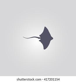 stingray icon. ocean animal