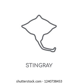Stingray linear icon. Modern outline Stingray logo concept on white background from animals collection. Suitable for use on web apps, mobile apps and print media.
