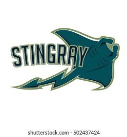 stingray logo mascot for sport team