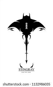 stingray, manta, The Stingray Logo Design. tribal stingray.