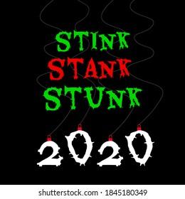 Stink Stank Stunk - stole Christmas card, poster, background