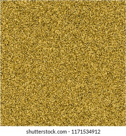 Stippling abstract dotted background for your design. Sparkling effect vector. Golden dots pattern isolated on the black background. Vector abstract gold glitter design element.