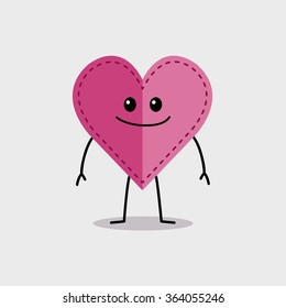 Stitched Heart Character