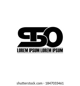 STO letter monogram logo design vector