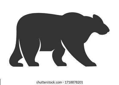 stock bear logo vector design