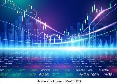 Stock exchange concept, vector background