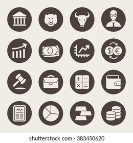 Stock Exchange icon set