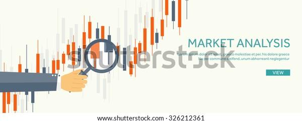 Stock Market Analysisfinanceflat Style Illustrationmoney