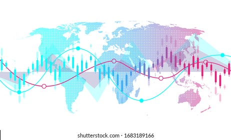Stock market background or forex trading business graph chart for financial investment concept. Business presentation for your design. Economy trends, business idea and technology innovation design
