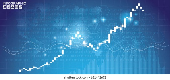 Stock market chart. Business graph on technology background. Forex trading business concept.
