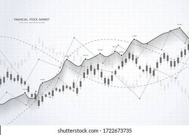 Stock market and exchange. Bullish point, Trend of graph.Graph chart of stock market investment world trading. Stock market data. Vector illustration