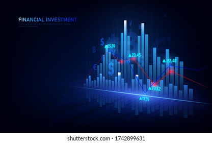 Stock market or forex trading graph in graphic concept suitable for financial investment or Economic trends business.