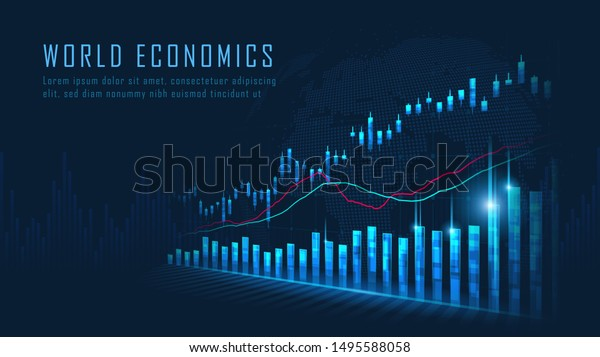 Stock market or forex trading graph in graphic concept suitable for financial investment or Economic trends business idea and all art work design. Abstract finance background. Vector illustration