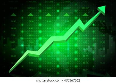 stock market going up. EPS10