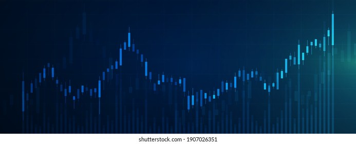 Stock market graph background. Concept of business investment. Stock future trading