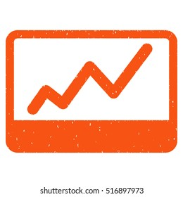 Stock Market rubber seal stamp watermark. Icon vector symbol with grunge design and dirty texture. Scratched orange ink sign on a white background.