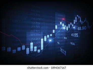 Graphique de la Bourse de négociation en concept graphique approprié pour l'investissement financier ou les tendances économiques l'idée d'affaires et tous les dessins d'art. Arrière-plan financier abstrait. Illustration vectorielle