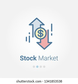 Stock Market vector icon