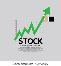 Stock Shares Raise Up Vector Illustration Conceptual EPS10