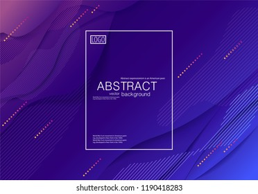 Stock vector abstract modern background Fluid shapes purple blue gradient geometric composition brochures cover A4 corporate identity style colorful design business template Eps10 for printed material