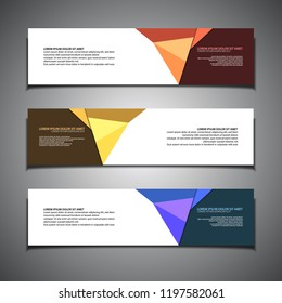 stock vector banner background modern template design
