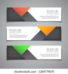 stock vector banner background modern template design web