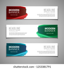 stock vector banner label background modern template design abstract web