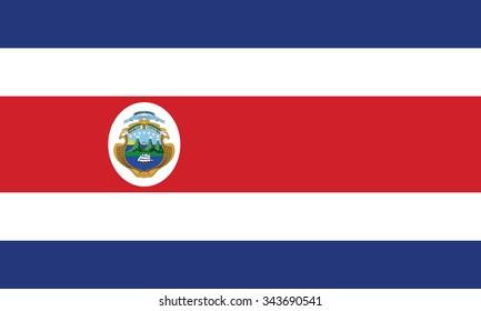 Stock Vector Flag of Costa Rica - Proper Dimensions
