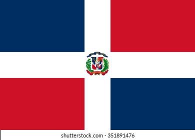 Stock Vector Flag of Dominican Republic - Proper Dimensions