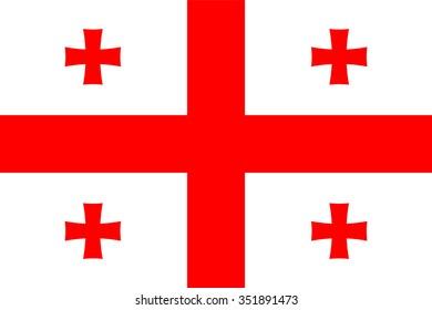 Stock Vector Flag of Georgia - Proper Dimensions