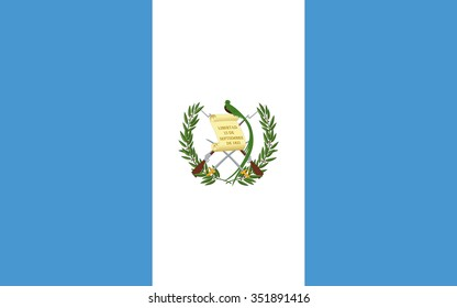 Stock Vector Flag of Guatemala - Proper Dimensions