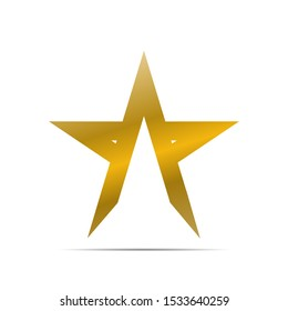 stock vector gold star logo template. logo icon graphic design symbol for company leaders with star shape.