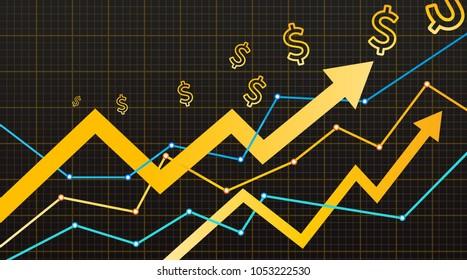 Stock vector graph