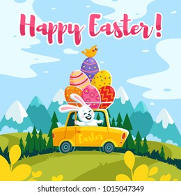 stock vector happy easter bunny