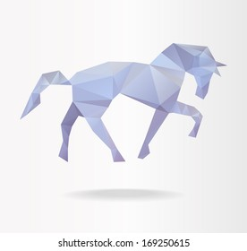 Stock vector horse vector of geometric shape symbol background