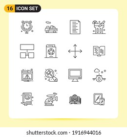 Stock Vector Icon Pack of 16 Line Signs and Symbols for costume; structure; html; sitemap; food Editable Vector Design Elements