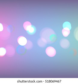 Stock vector illustration bokeh photo effect. Christmas light. Blurred New Year background. Many lights. Bokeh photos effects. EPS 10