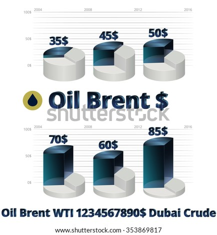 Stock Vector Illustration Brent Crude Oil Stock Vector Royalty Free