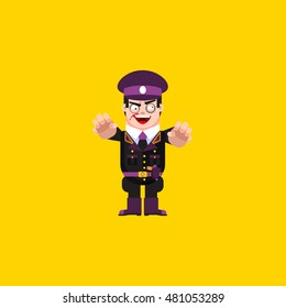 Stock vector illustration a dead fascist, zombie soldiers, character for halloween in a flat style