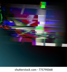 Stock vector illustration. Glitch style computer screen error templates. Digital pixel noise abstract design. Futuristic design background. Television signal fail. Data decay. Technical problem. EPS10
