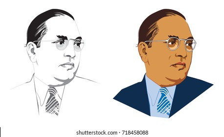 Stock vector illustration of indian freedom fighter late dr babasaheb ambedkar
