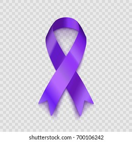 Stock vector illustration purple ribbon