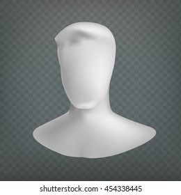 Stock vector illustration user icon. Isolated on a transparent background. Mannequin head. No face man. EPS 10