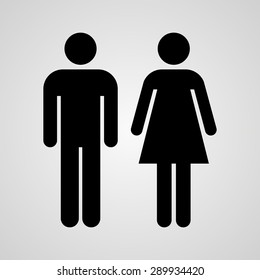 Stock Vector Linear icon male and female. Flat design.