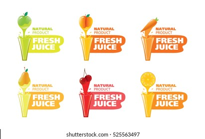 stock vector logo fresh juice