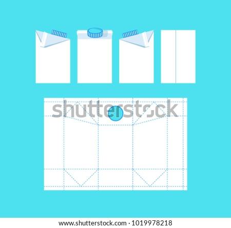 stock vector template box milk のベクター画像素材 ロイヤリティ